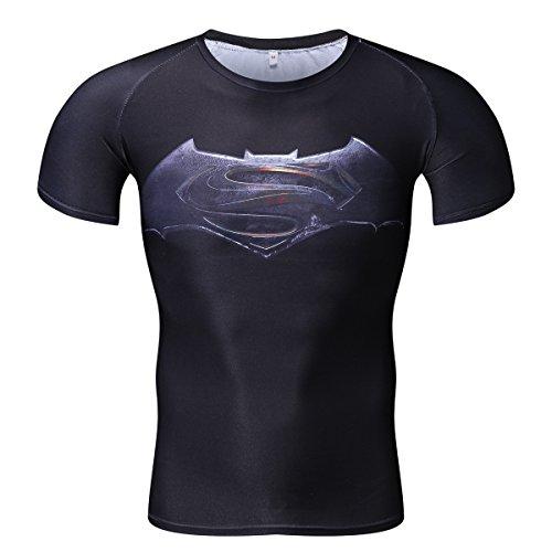 NINI バットマン vs スーパーマン ジャスティスの誕生 吸汗速乾 スポーツ tシャツ 半袖tシャツ 3D高品質 プリントtシャツ
