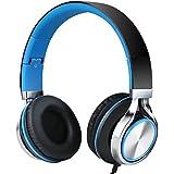 Sound Intone MS200 ヘッドフォン 折り畳み式 高音質 (クロブルー)