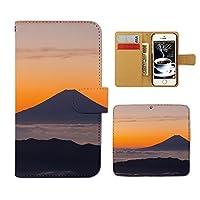 (ティアラ) Tiara LG Stylus 3 Dual Sim M400DK スマホケース 手帳型 日本文化 手帳ケース カバー富士山 日本 観光名所 朝日 景色 E0281020097401