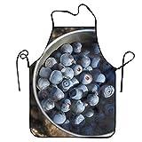 エプロン 前掛け 家事にも育児にも使い回しOK 保育士 料理人 スーパー用 男女兼用 ブルーベリーベリーカップ