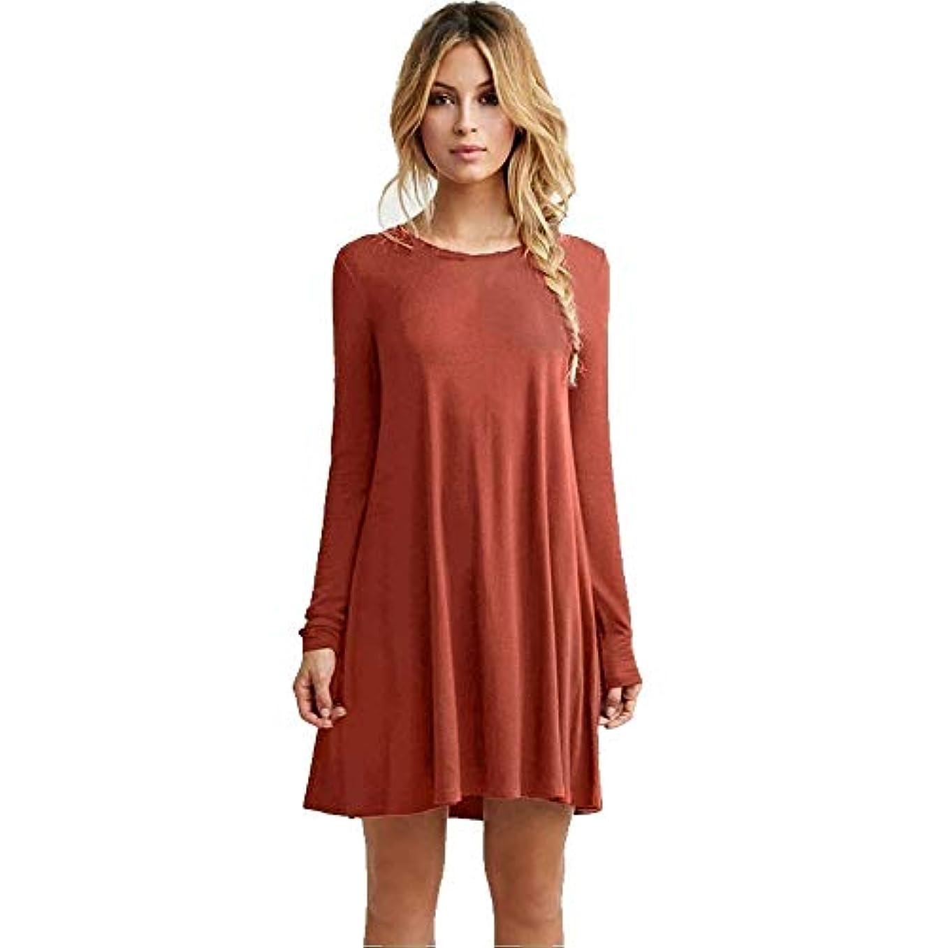 逃す有彩色のグリップMIFANルースドレス、プラスサイズのドレス、長袖のドレス、女性のドレス、秋のドレス、マキシドレス、コットンドレス