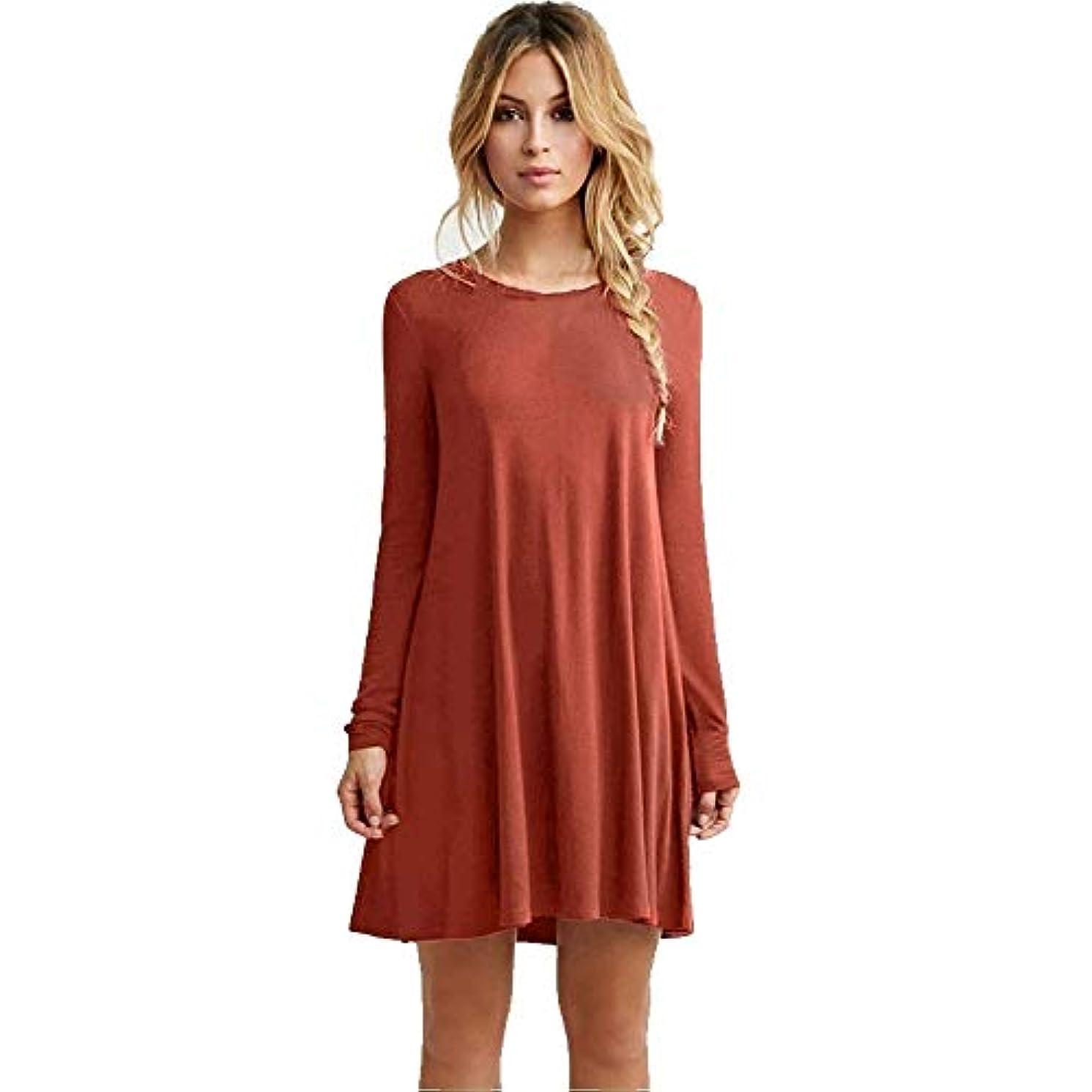 下線有料盗難MIFANルースドレス、プラスサイズのドレス、長袖のドレス、女性のドレス、秋のドレス、マキシドレス、コットンドレス