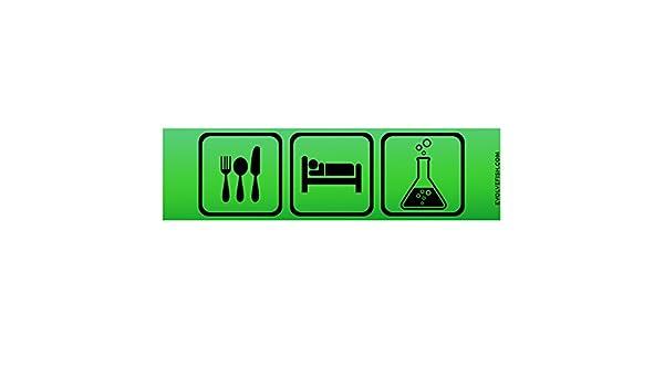 EvolveFISH Eat Sleep Science Bumper Sticker 11 x 3