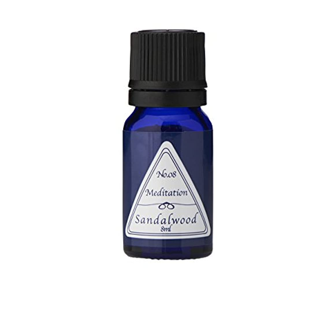 男らしいイタリアの処理ブルーラベル アロマエッセンス8ml サンダルウッド(アロマオイル 調合香料 芳香用)