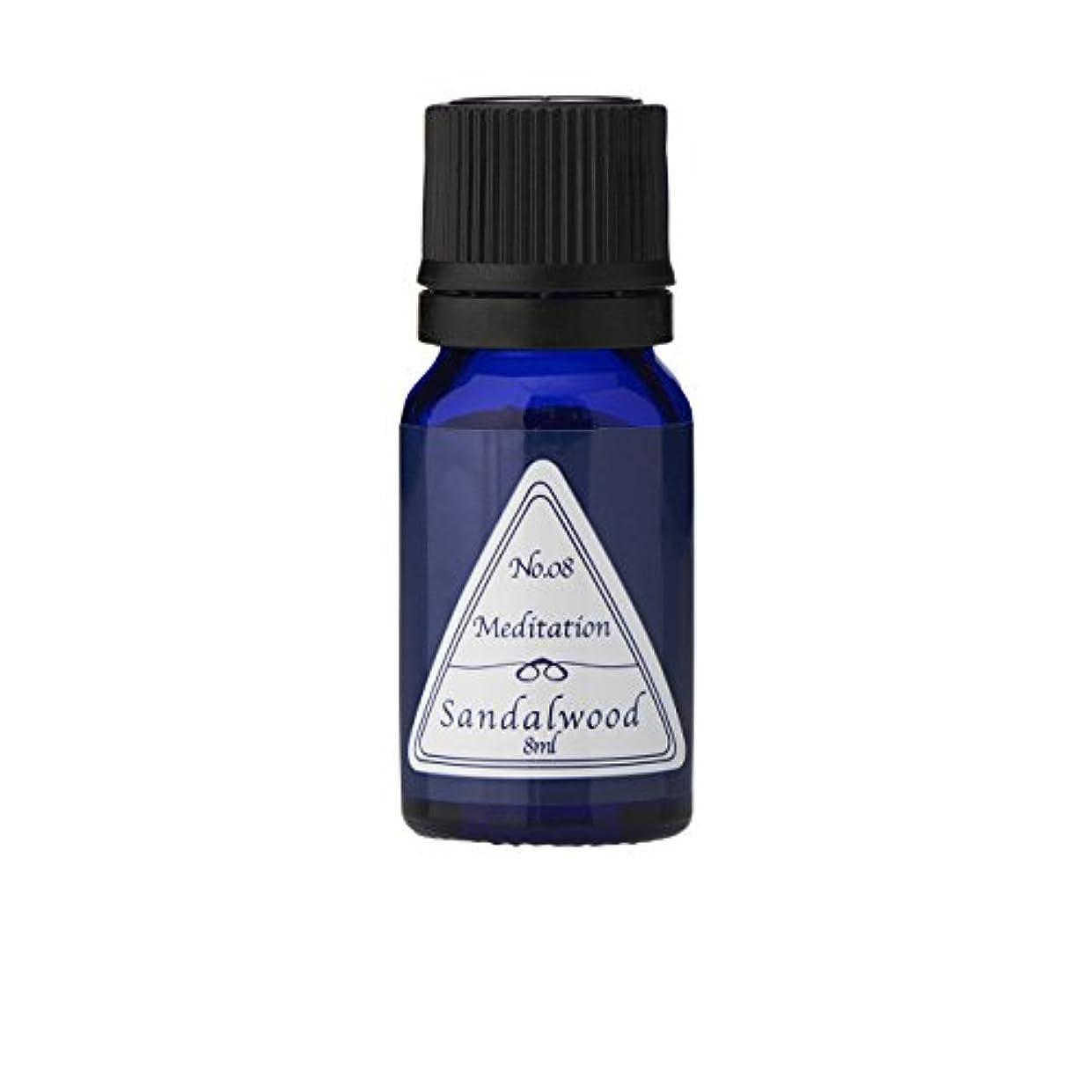 形式コンテンツ隔離ブルーラベル アロマエッセンス8ml サンダルウッド(アロマオイル 調合香料 芳香用)