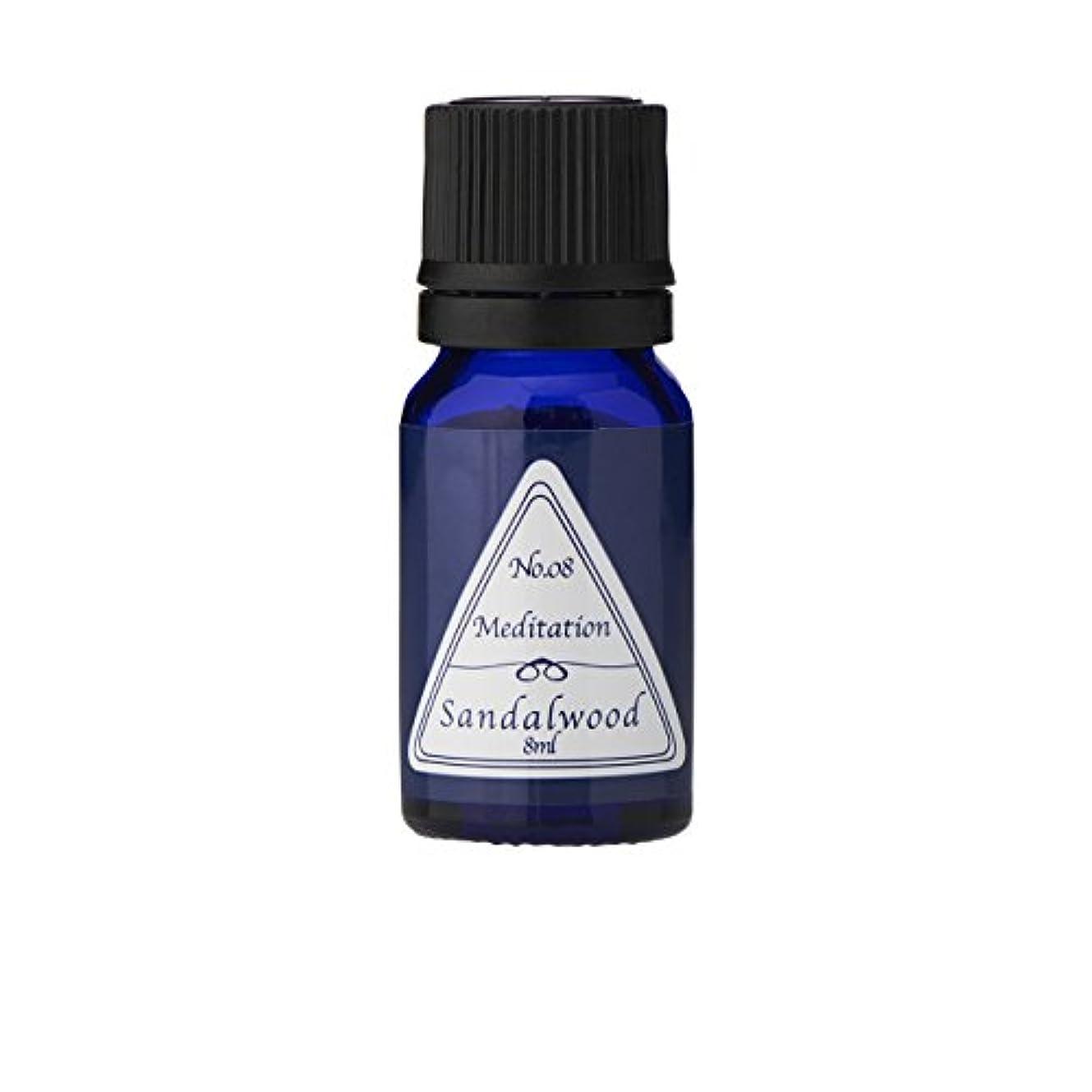 ミトンアルネ受動的ブルーラベル アロマエッセンス8ml サンダルウッド(アロマオイル 調合香料 芳香用)