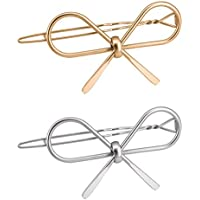 Reliablee Fashion Bowknot Shaped Hair Clips. Sweet Barrettes Girl (2 PCS)