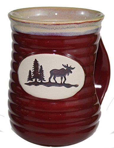 Cerarmic HandwarmerムースStoneware Mug (レッド)