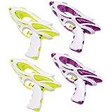 Toyvian 子供のための4本の水の潮吹き銃ビーチ遊ぶ水鉄砲子供(ランダムな色)