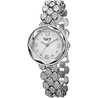 Burgi Women's BUR124 Swarovski Crystal Accented Faceted Bracelet Watch