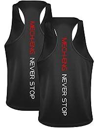 MECH-ENG(メチーエング) タンクトップ 2枚組 メンズ トレーニング ノースリーブ 筋トレ フィットネス スポーツウェア
