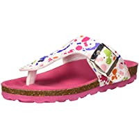 Kickers Girls' Summeriza Flip Flops, Multicolour (Blanc Imprime Multicolor 32), 10.5 UK