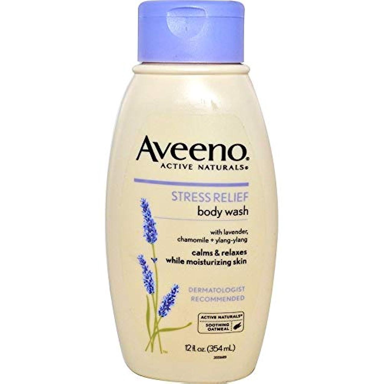 思われる事前周囲Aveeno Stress Relief Body Wash 12 fl oz by AveenoX 2 Pack [並行輸入品]