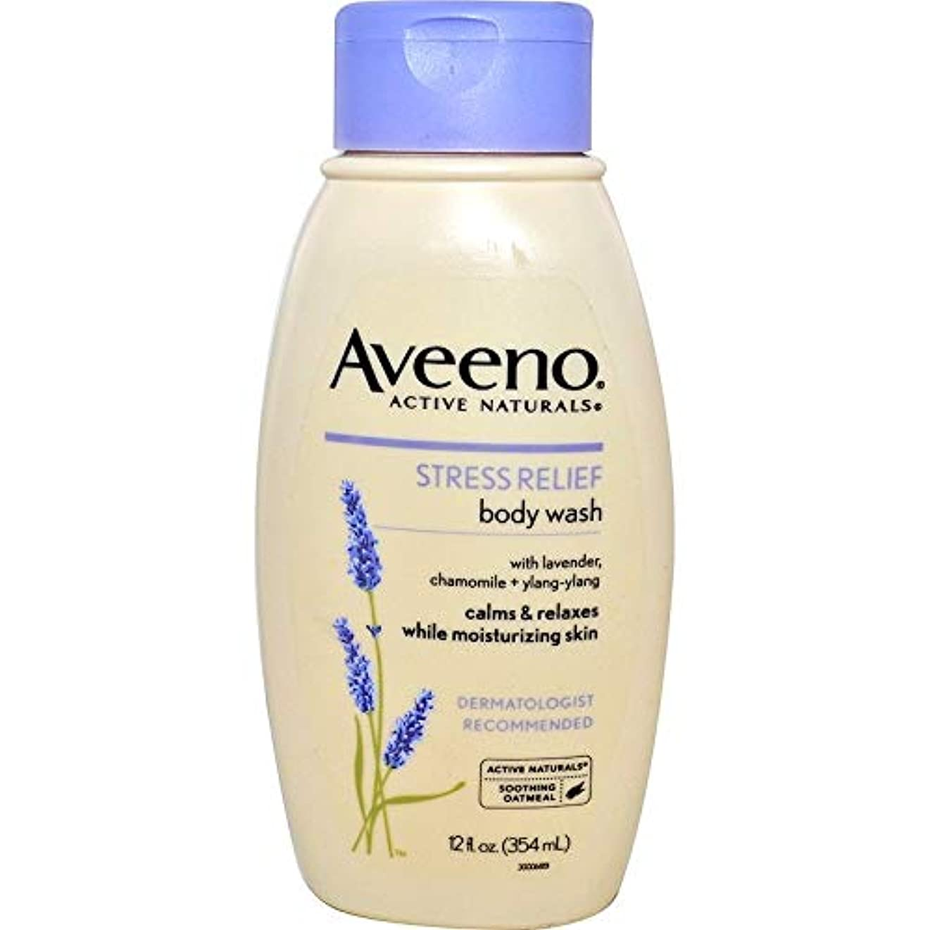 湿原カビ豪華なAveeno Stress Relief Body Wash 12 fl oz by AveenoX 4 Pack [並行輸入品]