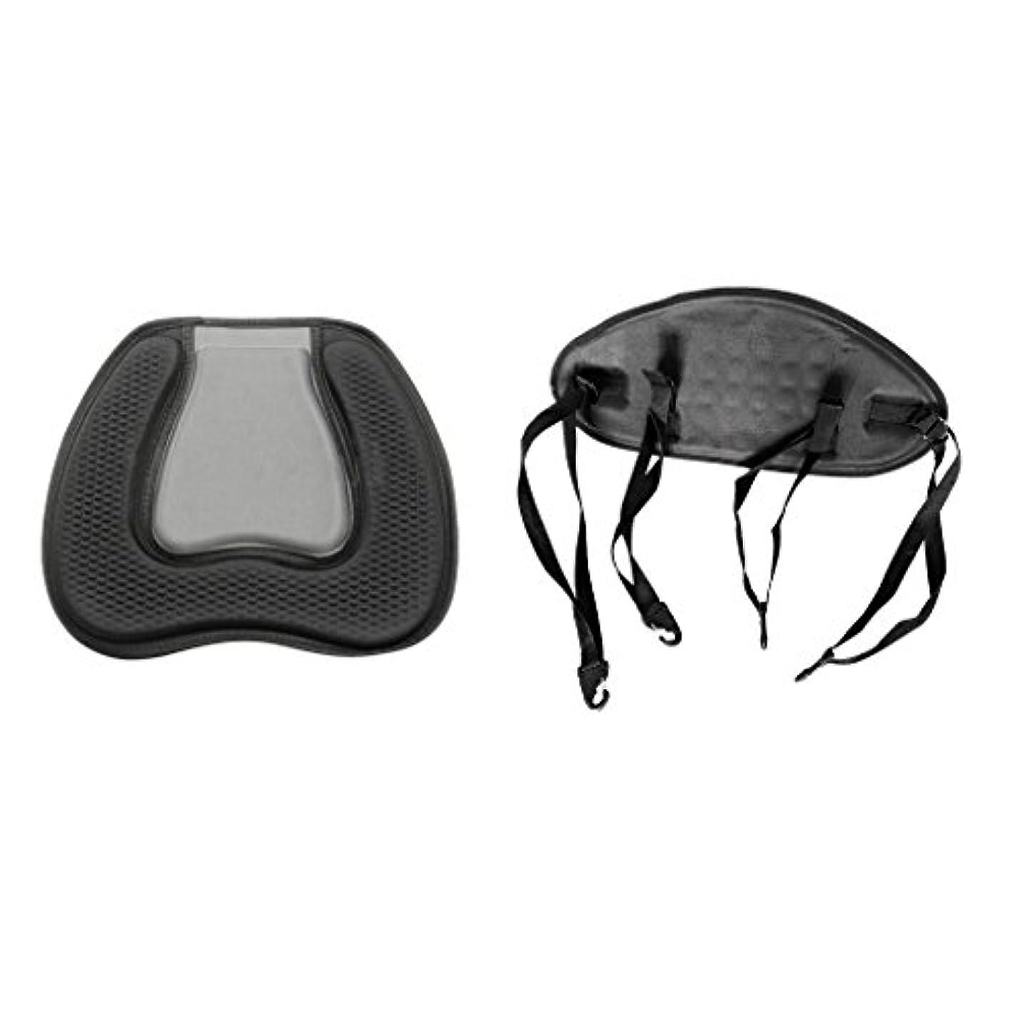 アルカイック毒液豆腐Fityle 2点セット ブラック カヤック用 シートクッション 背もたれ サポート パッド ソフト