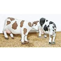 Langleyモデルさまざまな牛4 Stances OOスケール未塗装メタルモデルキットf68