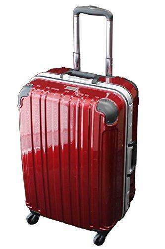 (シェルポッド) shellpod スーツケース TSAロック 軽量 アルミフレームタイプ シェルポッド HF-600 Lサイズ 鏡面レッド(大型 7日8日9日10日11日12日・長期滞在用)【一年修理保証】【600L/RED】