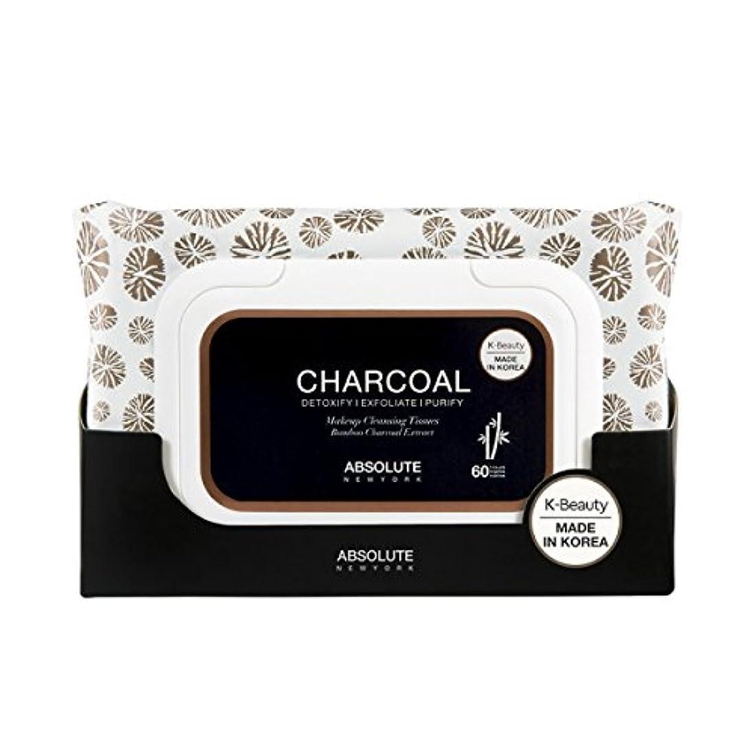 注入する求める雑草(6 Pack) ABSOLUTE Charcoal Cleansing Tissue (並行輸入品)