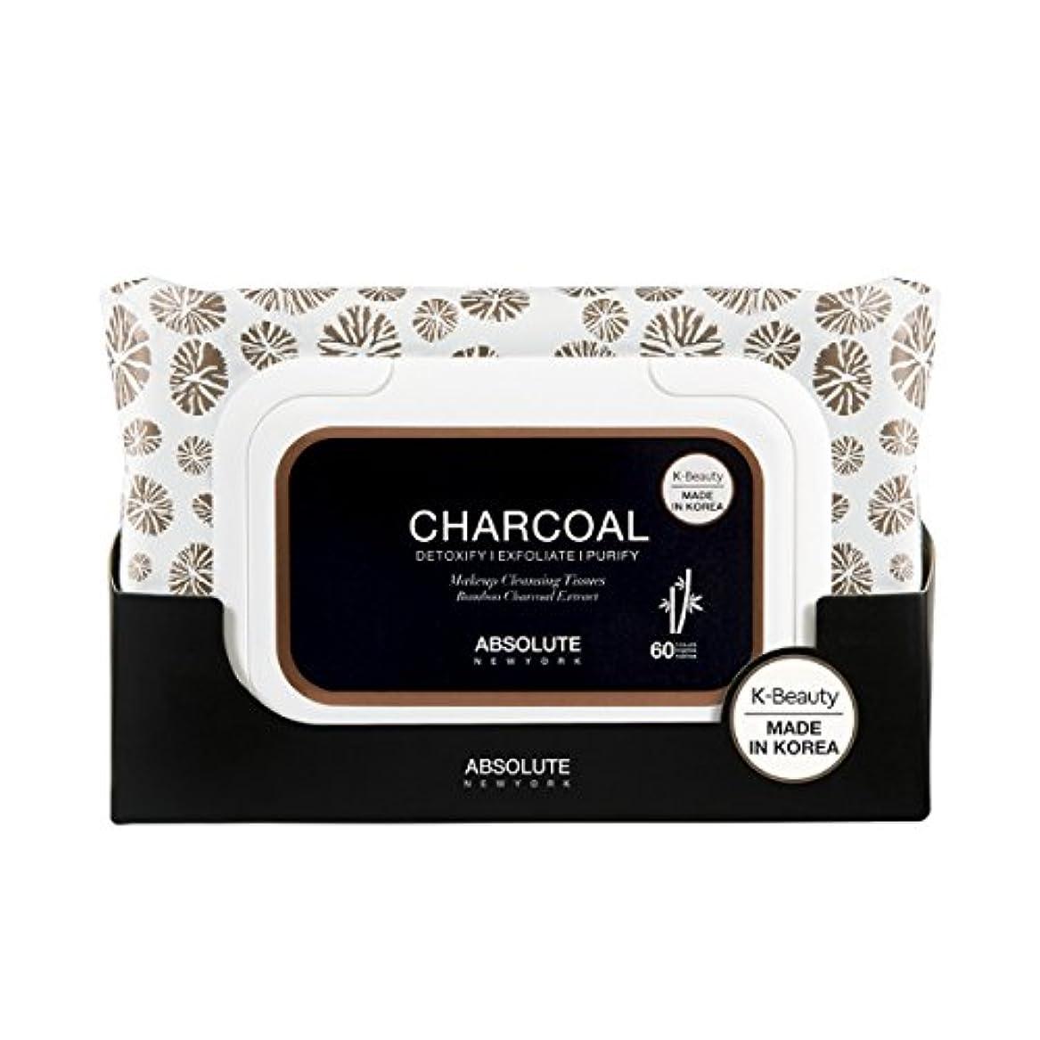 人里離れた悲惨な印刷する(3 Pack) ABSOLUTE Charcoal Cleansing Tissue (並行輸入品)