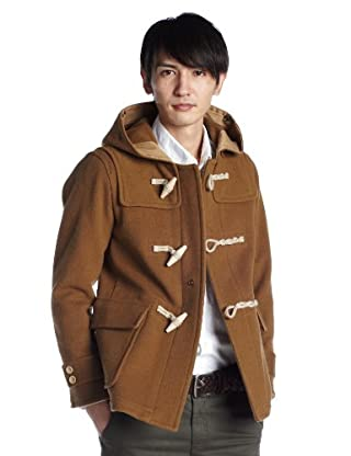 Shaggy Melton Duffle Coat 1225-139-6016: Brown