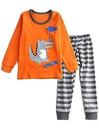 (ビメイゴー) Bmeigo パジャマ キッズ 子供服 女の子 男の子 ルームウェア 寝間着 長袖 綿 恐竜柄 動物柄 部屋着 上下セット 女児 男児 幼児服 ベビー 柔らかい 可愛い 快適 全7タイプ