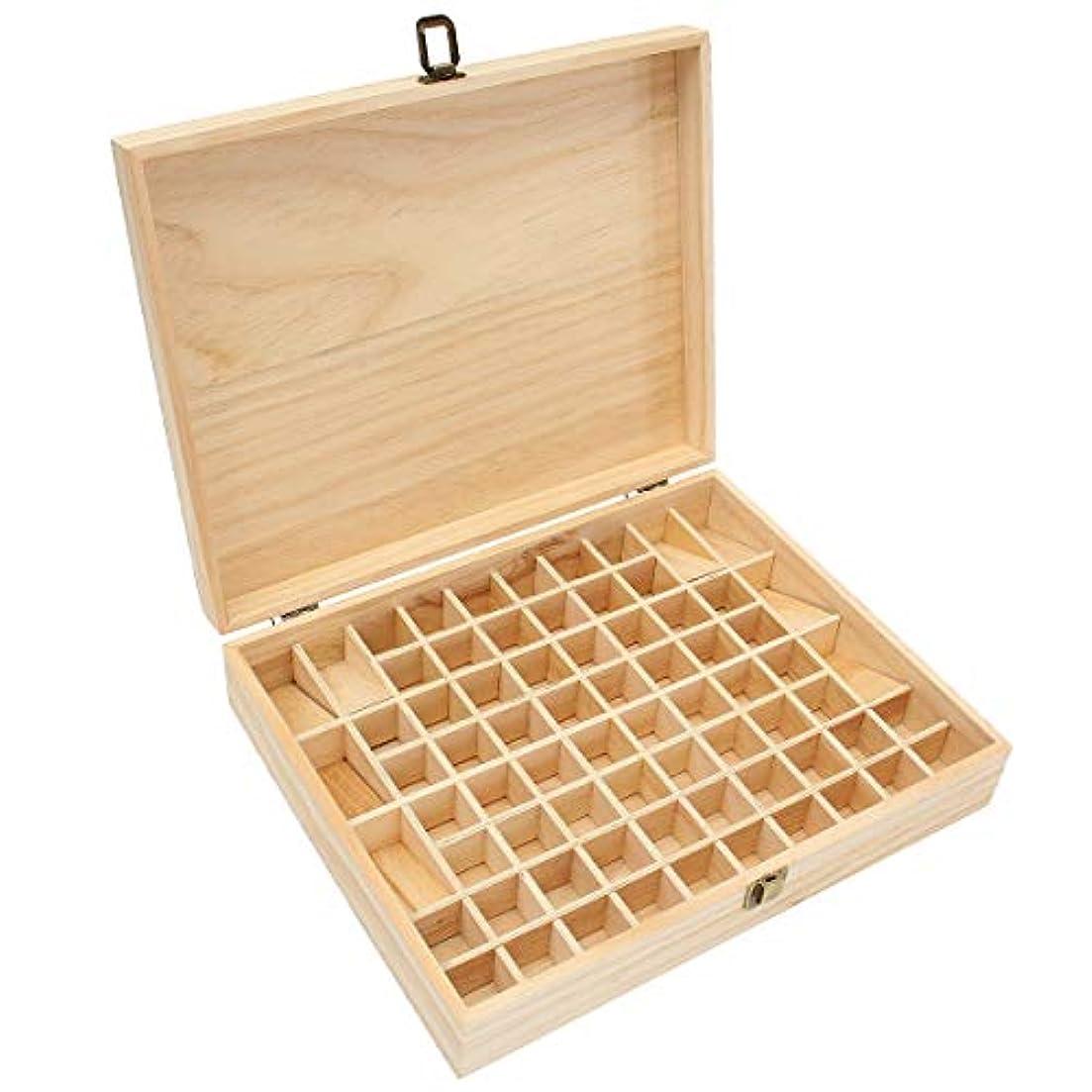 受粉者金曜日徴収TINKSKY エッセンシャルオイルケース アロマケース 木製 アロマオイルスタンド 精油ボックス 精油収納 仕切りボックス 72本収納