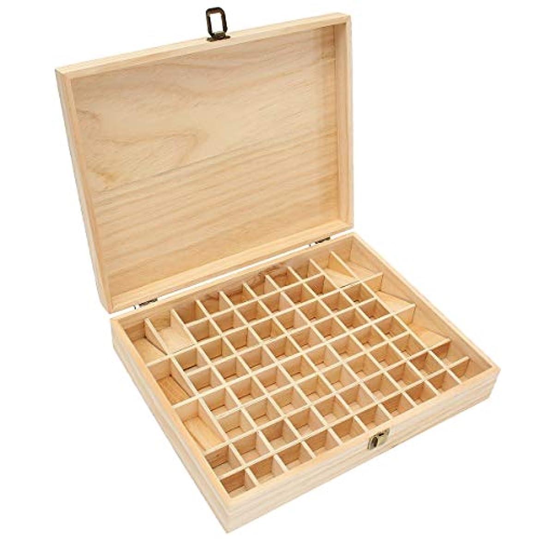 ストロー修士号外交TINKSKY エッセンシャルオイルケース アロマケース 木製 アロマオイルスタンド 精油ボックス 精油収納 仕切りボックス 72本収納