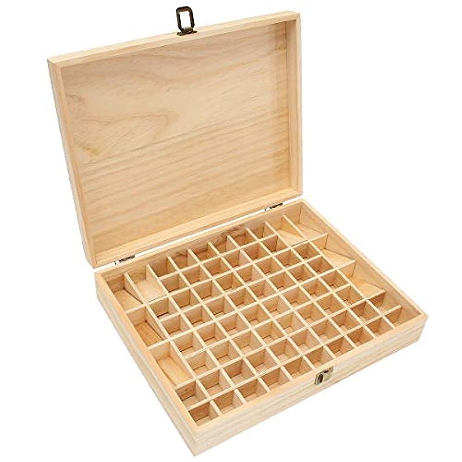 宗教的な嘆願ブッシュTINKSKY エッセンシャルオイルケース アロマケース 木製 アロマオイルスタンド 精油ボックス 精油収納 仕切りボックス 72本収納