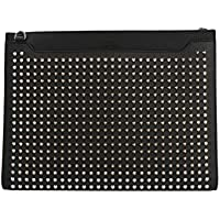 Christian Louboutin Men's 1195055BK65 Black Leather Clutch