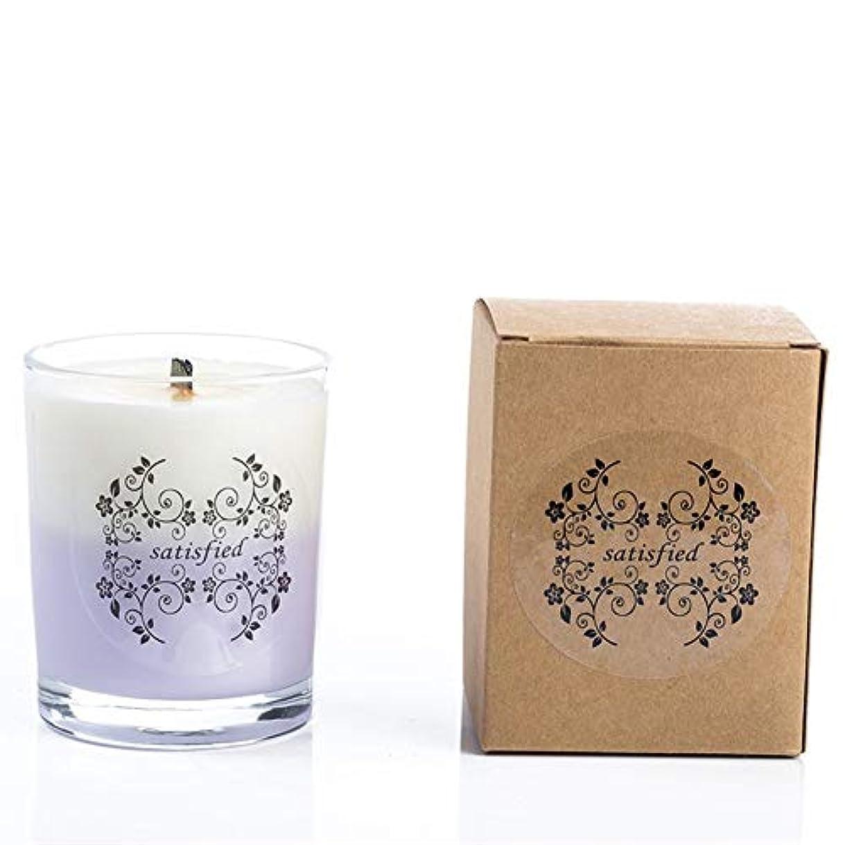 寝るペンスリラーACAO ガラスのツートンの香料入りの蝋燭のハンドメイドの無煙の香りの家の香料入りの蝋燭 (色 : Grapefruit)