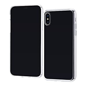 レイ・アウト iPhone X ケース ハイブリッド クリア RT-P16CC2/CM
