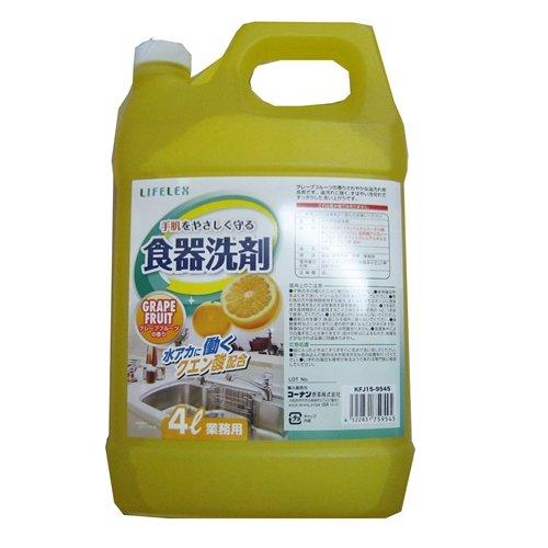 コーナンオリジナル 業務用食器洗剤4L グレープフルーツ