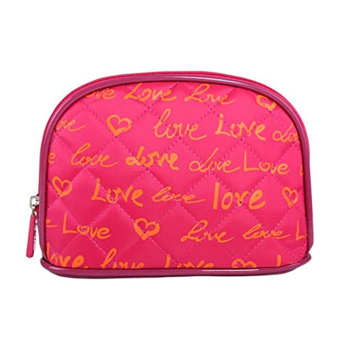 役割朝ごはん侵入化粧オーガナイザーバッグ ポータブル防水化粧品袋印刷トップジッパーメークアップの場合旅行 化粧品ケース (色 : 赤)