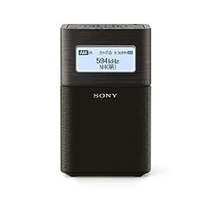 ソニー SONY ホームラジオ SRF-V1BT : FM/AM/ワイドFM/Bluetooth対応 ブラック SRF-V1BT B
