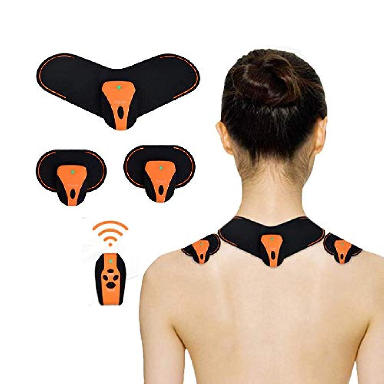 忘れっぽい微弱バラバラにする肩および首のマッサージャー、筋肉弛緩の苦痛救助のための再充電可能な無線深いマッサージは血循環を改善します