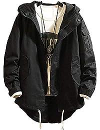 [Nana_Collection(ナナコレクション)] 秋冬 メンズ 上着 ジャケット オーバーコート ジャンバー 迷彩 後ろ長め丈