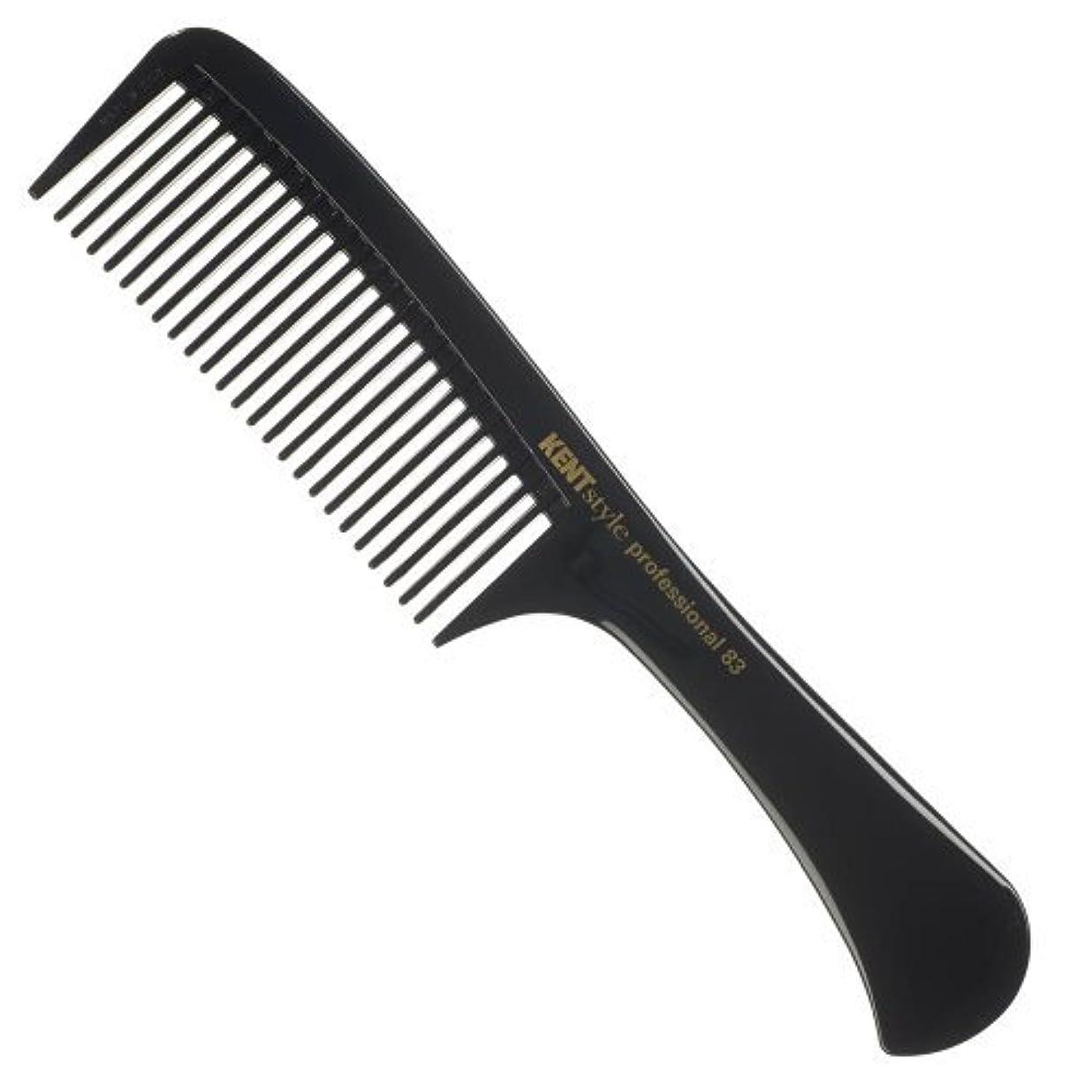 大学魅了する抑圧Kent Style Professional Combs (Black) - Hard Rubber, Anti-static, Unbreakable & Heat Resistant - Salon & Barber...