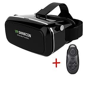 (ディオスン)Diosn 3D VRメガネ 3D動画/ビデオ/映画/ゲーム 超3D映像効果焦点・視界距離調整可能 ヘッドバンド付き 3.5-6.0インチAndroid/iPhoneスマホに対応 (リモコン付き)