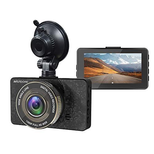 MUSON(ムソン) ドライブレコーダー 最新版 高画質 多機能 1080PフルHD 駐車監視 車載カメラ 170°広角 3.2インチSHARPスクリーン採用 常時録画 動体検知 自動シャットダウン G-sensor WDR搭載 ループ録画 高速起動 リアカメラ
