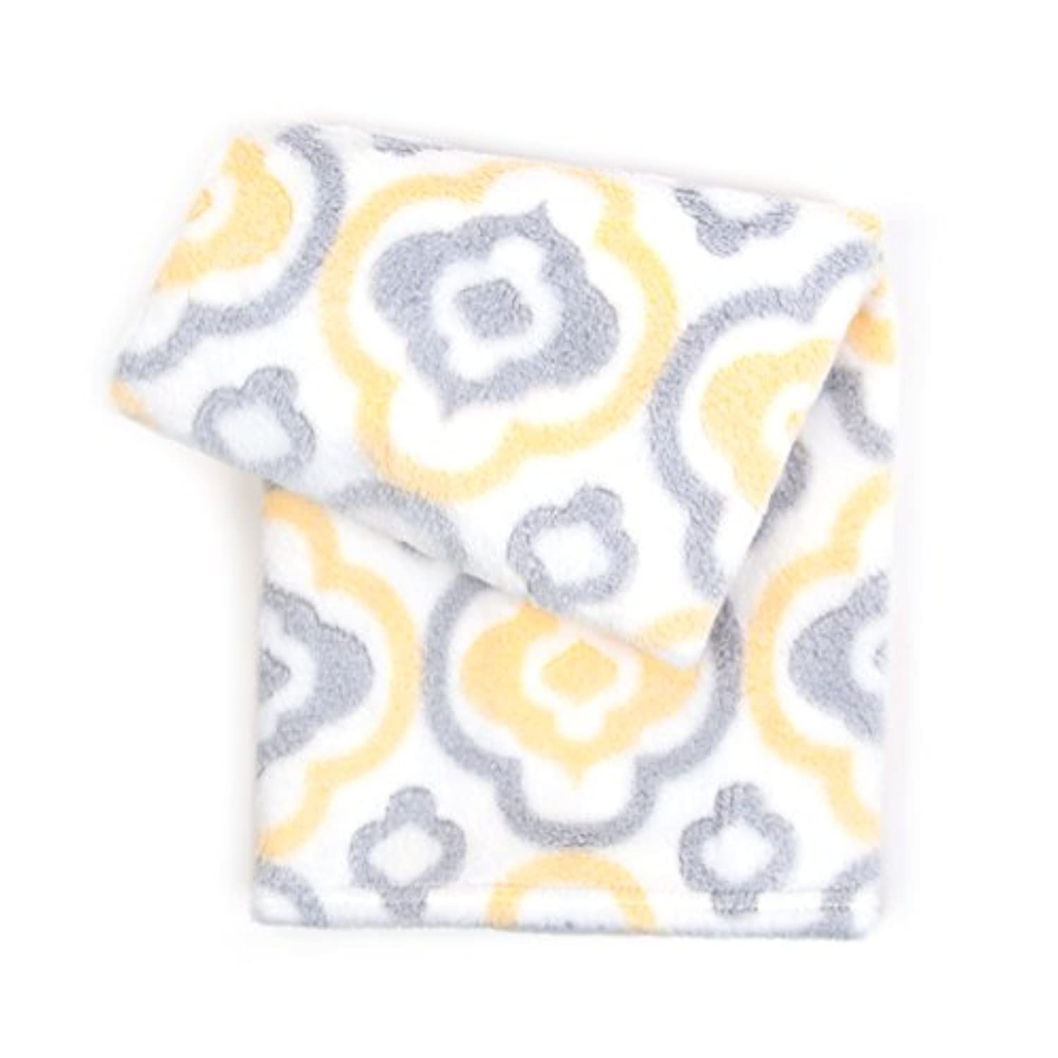Tadpoles 3D Jacquard Plush Ultra-Soft Baby Blanket, Yellow/Grey by Tadpoles