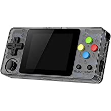 Open console open source LDK game 2.7 inch screen mini handheld computer children and family retro game console(Transparent Black)