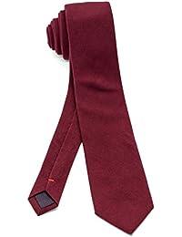 [ダブリューアンドエム] ウール スウェード 調 ナロータイ 6㎝ 幅 細 ネクタイ ビジネス 洗濯 可能 無地 杢 チェック 柄