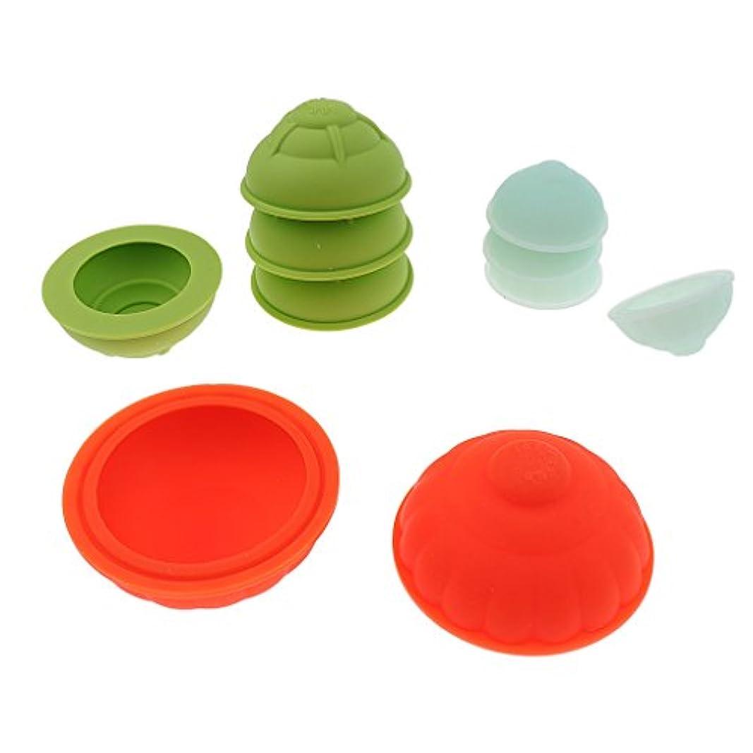 スワップ刺激する見つけたカッピングカップセット シリコン 10個 真空 マッサージ