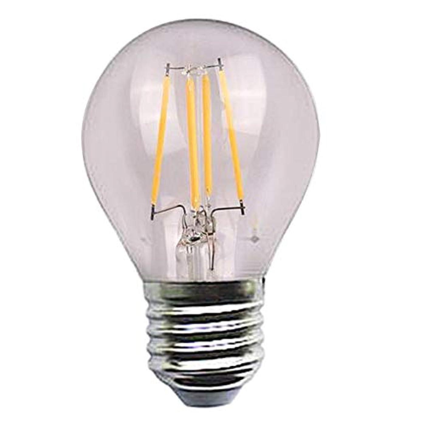 心臓ハプニングパーツエジソンはフィラメントシリーズ球根4w 110-220vの銀ランプの頭部を導きました