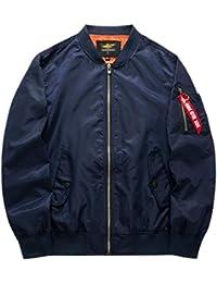 Fly Year-JP メンズコートアウトドアフライトベースボールクラシックプラスサイズジャケット