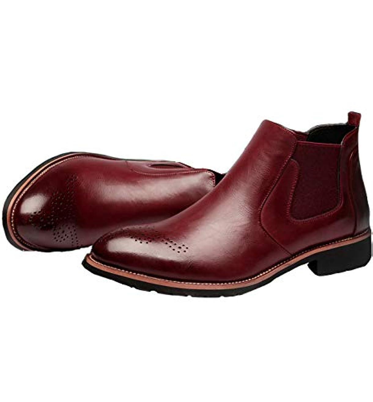 幹ほとんどの場合評価する(フォクスセンス) Foxsense 本革 ブロック 英徳風 レジャ- ビジネスシューズ 紳士靴 メンズ レディース 通勤 防水 フォーマル レインブーツ マーチン サイドジップ ワークブーツ