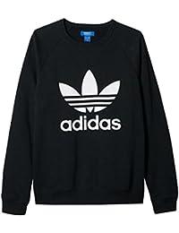adidas(アディダス) メンズ オリジナル トレフォイル クルー スウェット シャツ(ブラックL) [並行輸入品]