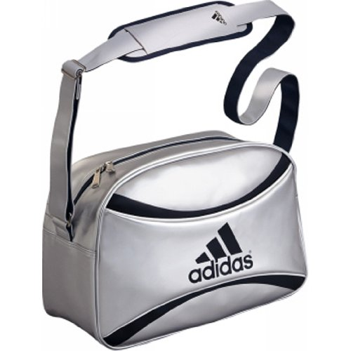 adidas(アディダス) エナメルボールバッグ シルバー AE01SL