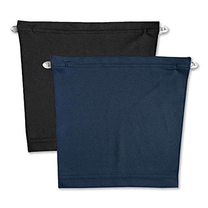 気晴らし立派なコートフロントキャミ (2枚組) 胸元隠し UVカット (黒 & ネイビー)
