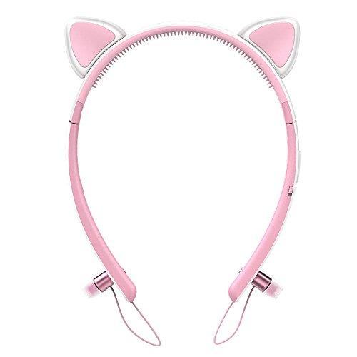 Tronsmart Bunny Bluetooth4.2 イヤホン 高音質 可愛い バニー耳 猫耳 耳脱着可能 LED付き 6時間連続使用 ブルートゥース イヤホン ワイヤレス Bluetooth ヘッドホン iPhone、Android各種対応